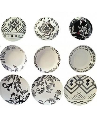 Fade Black & White servizio tavola