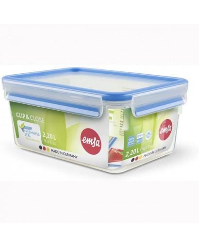 Emsa Clip & Close contenitore salvafreschezza rettangolare 2,30 l