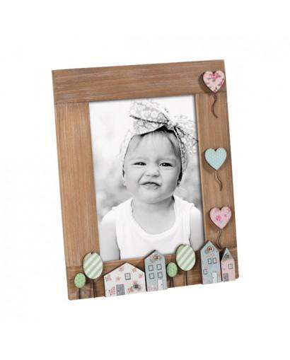 Mascagni Kids portafoto in legno noce 13 x 18