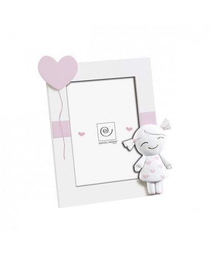 Mascagni Kids portafoto in mdf rosa 13 x 18