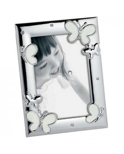 Mascagni Kids portafoto in metallo lucido argento-cromo 10 x 15