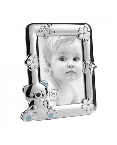 Mascagni Kids portafoto in metallo lucido celeste 13 x 18