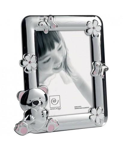 Mascagni Kids portafoto in metallo lucido rosa 13 x 18