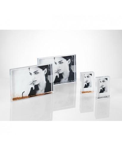 Mascagni Portafoto in acrilico con glitter argento 10 x 15