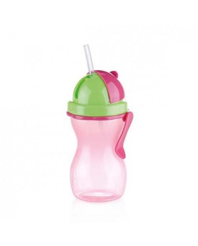 Tescoma Bambini bottiglia con cannuccia rosa